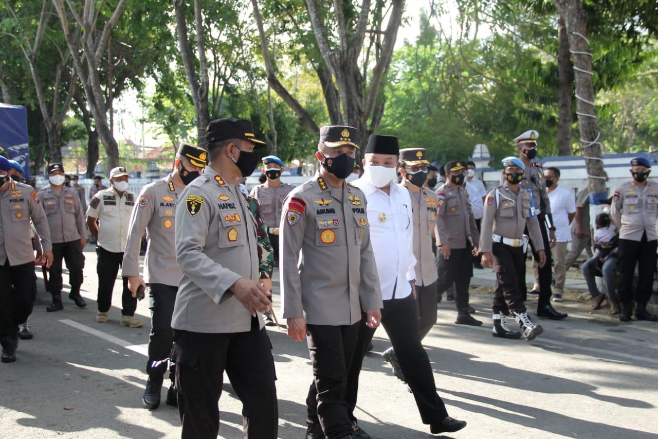 Irwasum Polri Support Kodim 0828 Sampang, Polres Sampang Dan Pemkab Sampang Dalam Penanganan Covid-1